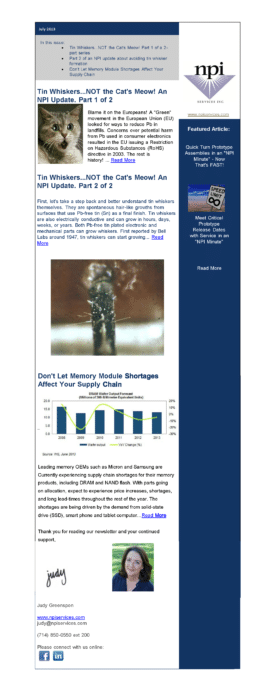 July 2013 Newsletter Archive 270x698 1